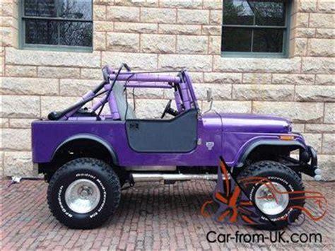 purple jeep cj cj7 renegade 401 v8 auto top purple blue power ps 360