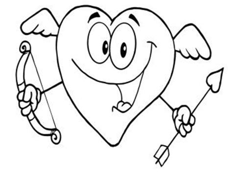 Smiling Heart Coloring Page | smile and heart coloring pages coloring pages