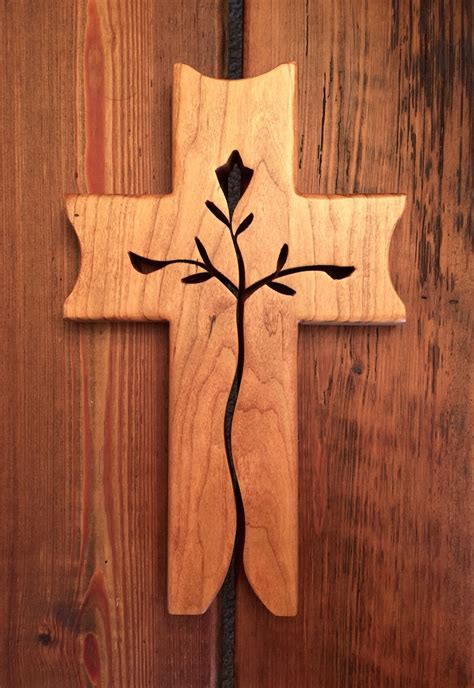 Handcrafted Crosses - graceful cross cherry crosses