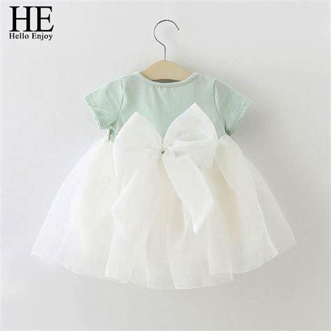 Dress Baby Mungil Hello he hello enjoy baby dress 1 year birthday dress lace infant baptism vestido infantil