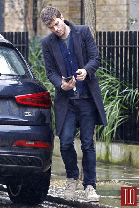 jamie dornan makes a starbucks run in london tom lorenzo