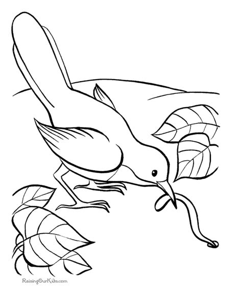 Coloring Pages Of A Bird Free Coloring Pages Of Birds And Flowers by Coloring Pages Of A Bird