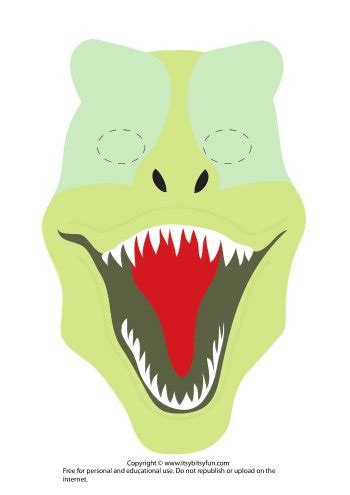 dinosaur mask template free printable dinosaur masks templates free itsy bitsy
