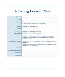 lesson plan template reading reading lesson plan template microsoft word templates
