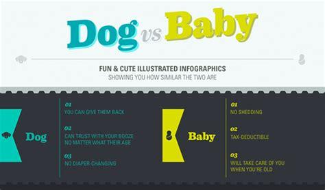 puppies vs babies baby vs infographics on artcenter gallery