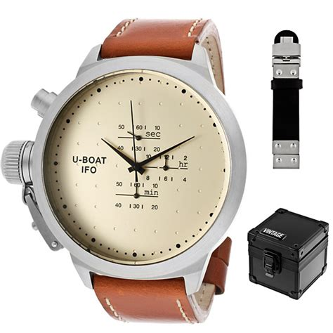 U Boat Turbilon Orange vintage mens watches
