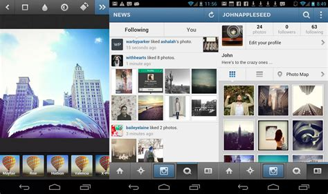 instagram gets controls android gets photo straightening - Instagram Android