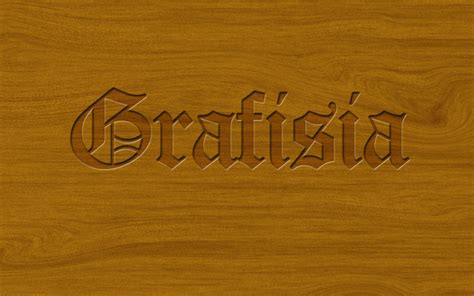photoshop tutorial logo in wood pressed style text effect grafisia