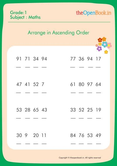 ascending descending order worksheets all worksheets 187 arrange numbers in ascending order