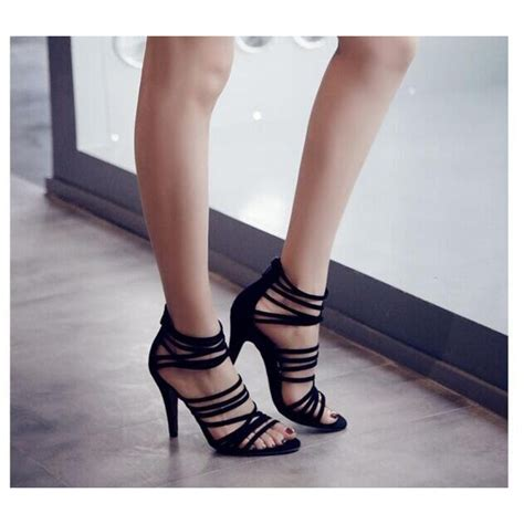 strappy black sandals high heels black suede strappy high heel sandals