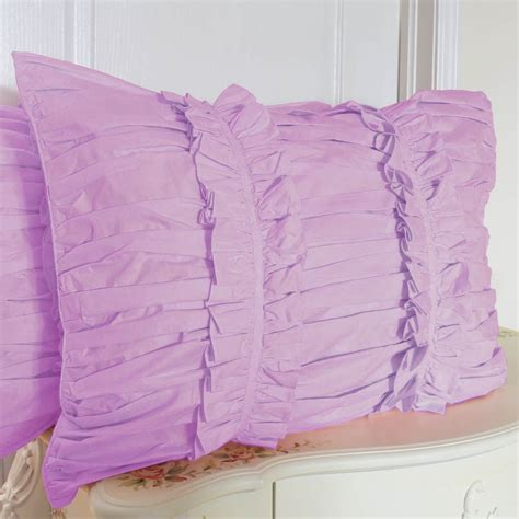 Purple Pillow Sham by Ruched Pillow