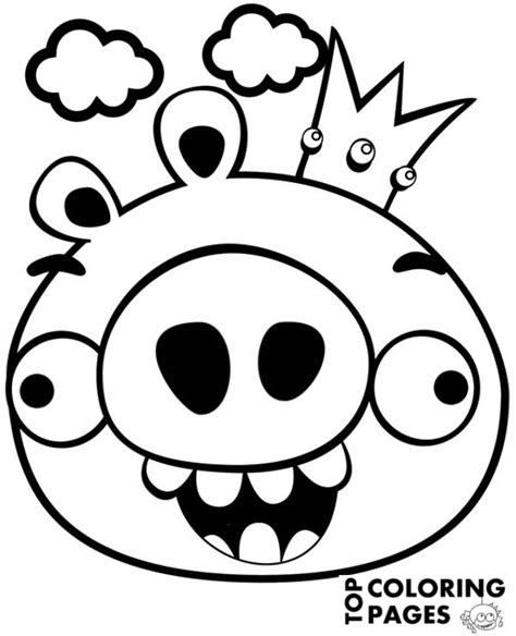 angry birds coloring pages christmas angry birds pig to print or download for free
