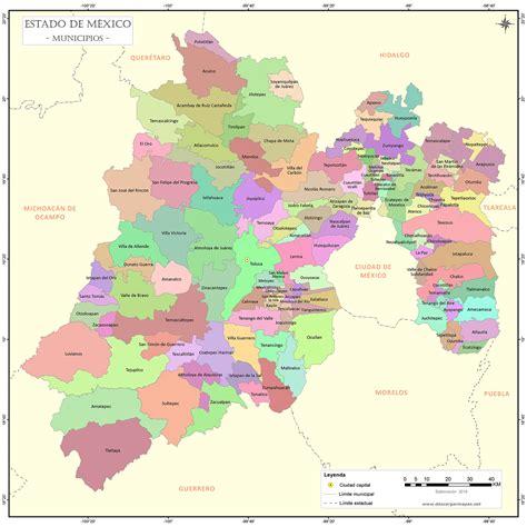 emplacamiento estado de méxico 2015 mapa de municipios de estado de m 233 xico descargar mapas