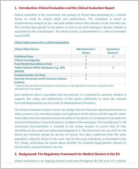 evaluation report template 13 sle evaluation report free sle exle