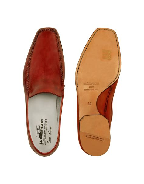 Handmade Italian Shoes - pakerson italian handmade leather loafer shoes in
