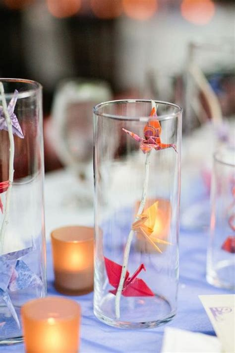 Origami Crane Centerpiece - 41 trendy origami wedding ideas happywedd