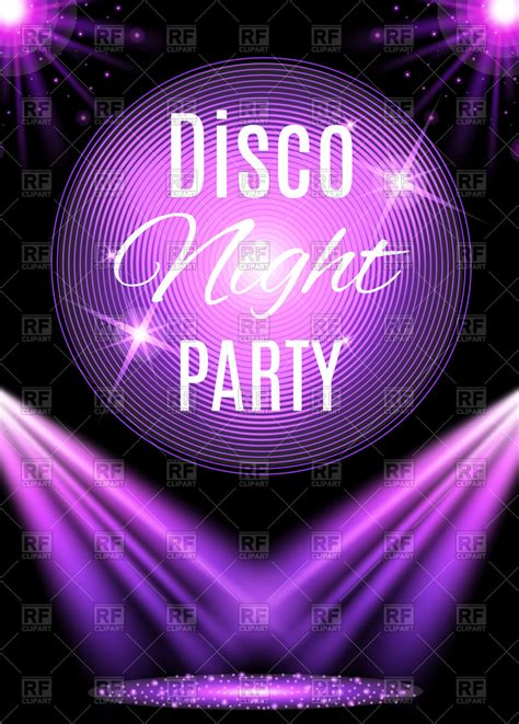 royalty free clipart disco poster royalty free vector clip