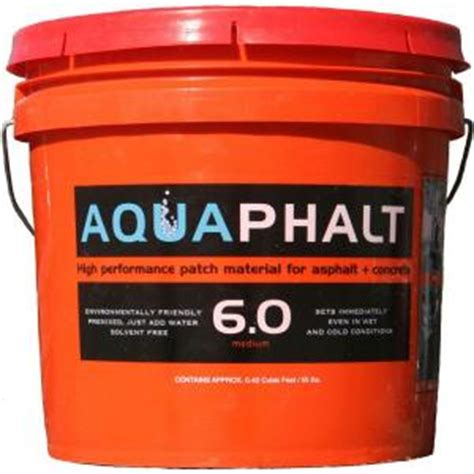 Asphalt Repair Home Depot by Aquaphalt 3 5 Gal Permanent Asphalt Repair Patch Black 211728 The Home Depot