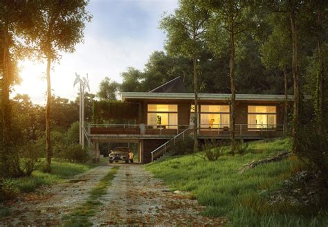Contemporary Exteriors In Nature Visualized Futura