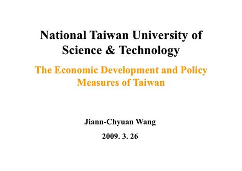 Mba International Economic Development by The Economic Development And Policy Measures Of Taiwan
