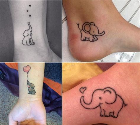 little elephant tattoos go and with these animal tattoos