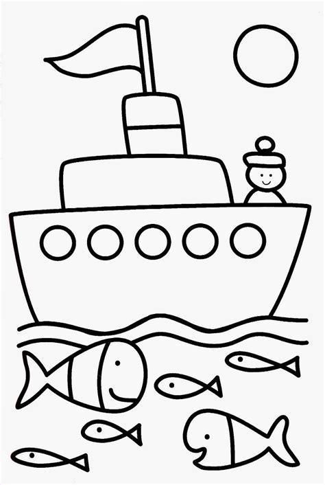 dessin bateau simple coloriage simple et facile