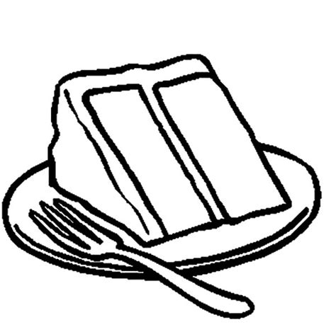 George Bush Birthday by Slice Of Chocolate Cake On Plate With Fork Coloring Pages