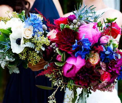 Bridal Bouquet And Bridesmaid Bouquet by Winter Wedding Flowers Silver Navy And Wine Wedding