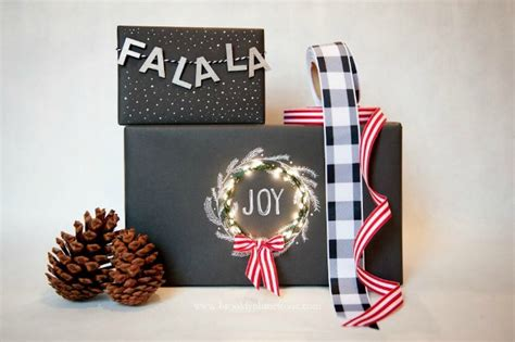 light up christmas packages diy giant pom poms gift toppers