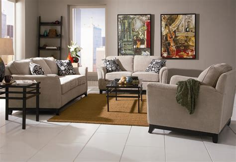 Living Room With Sofa Beige Chenille Fabric Modern Living Room Sofa W Options