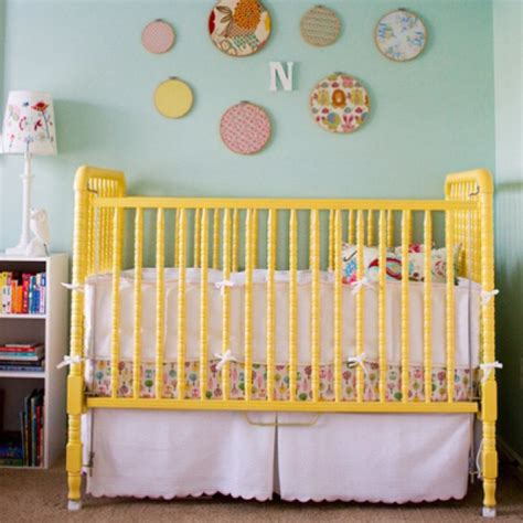 Yellow Jenny Lind Painted Crib Decorating Pinterest Can You Paint Baby Crib