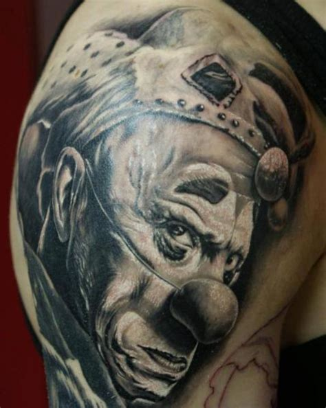 tattoo disasters clown tattoos best clown head tattoo stencil by rusred 16 best clown