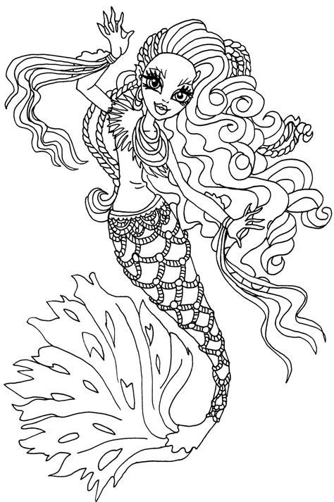 Dibujos para pintar de Sirena Vonboo