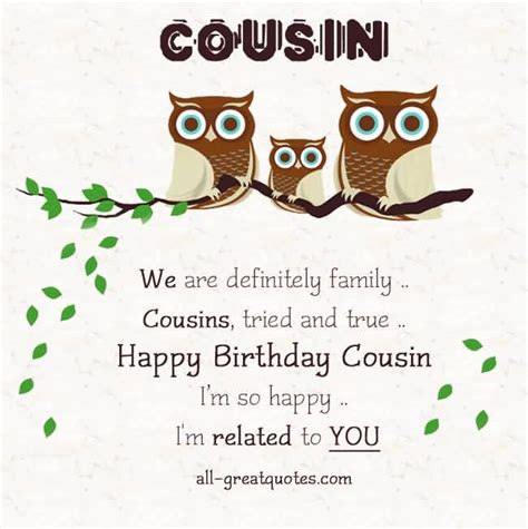 Birthday Cards For Cousin Great Quotes Birthday Wishes For Lovely Cousin