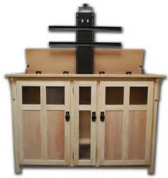 the bungalow unfinished tv lift cabinet for flat screen