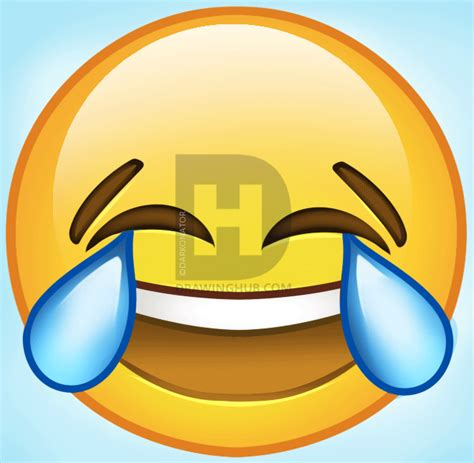 hoe emoji how to draw laughing emoji step by step symbols pop