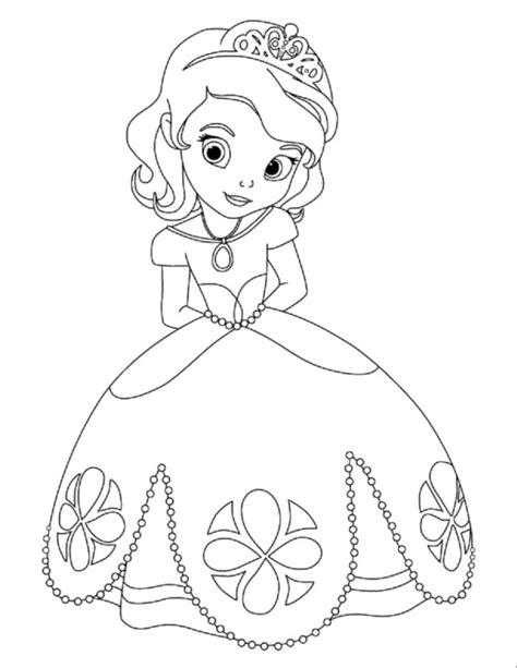free coloring pages of disney baby princesses