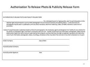 publicity release form template release form free printable documents