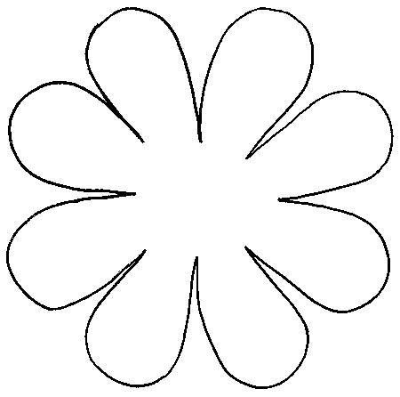 flower pattern for cut out daisy flower pattern cut out