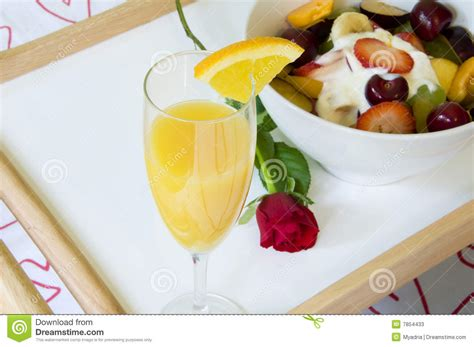 rose themed breakfast romantic breakfast in bed stock photos image 7854433