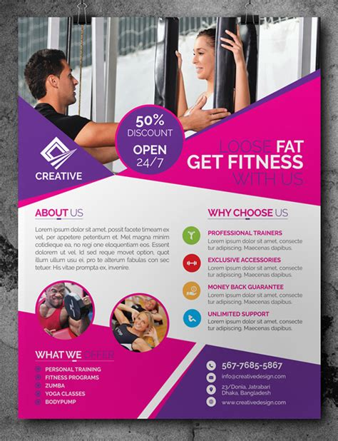 brochure design templates free psd free fitness flyer template psd free psd files