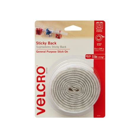 Velcro The velcro brand 5 ft x 3 4 in sticky back 90087 the