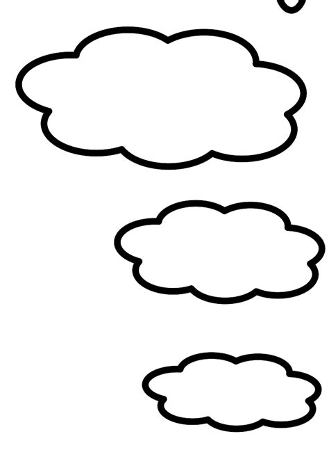 cloud template with lines line drawing clouds clipart best