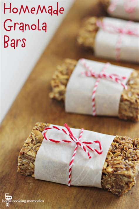 granola bars home cooking memories