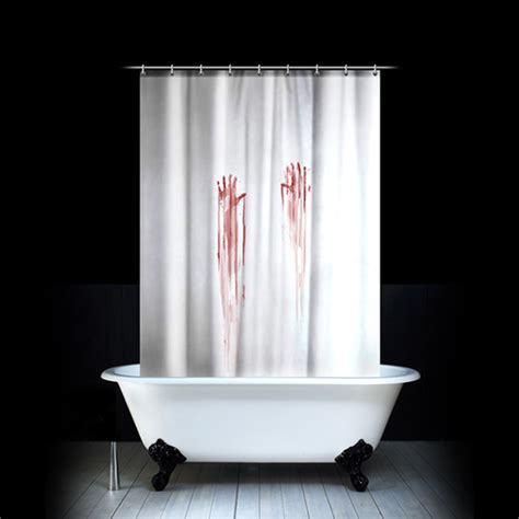 bath and shower accessories bloodstained shower curtain