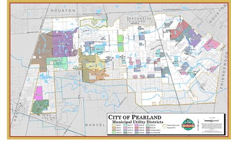 map pearland texas municipal utility districts city of pearland tx