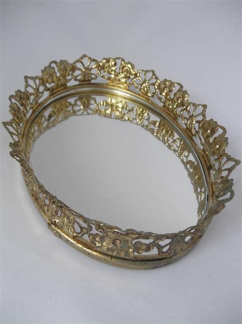 Perfume Mirror Vanity Trays by Perfume Mirror Tray 70s Vanity Tray Mirrored
