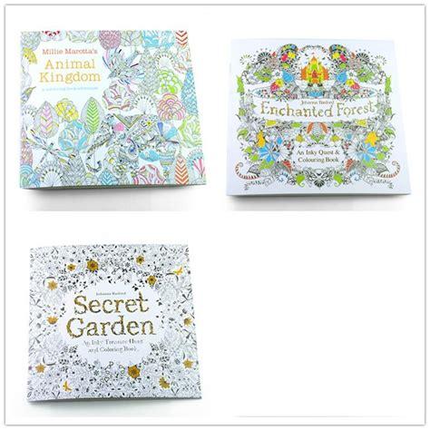 secret garden colouring book price 3pcs edition secret garden animal
