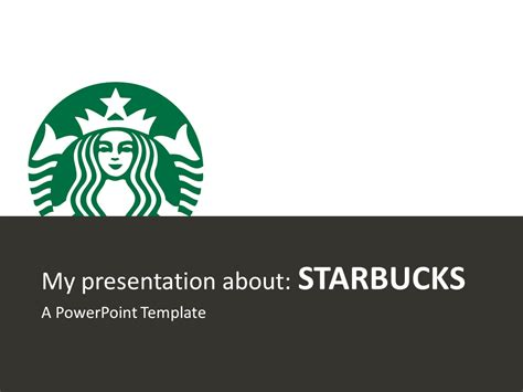 starbucks powerpoint template presentationgo com