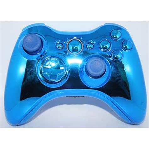 chrome xbox 360 controller blue chrome xbox 360 modded controller
